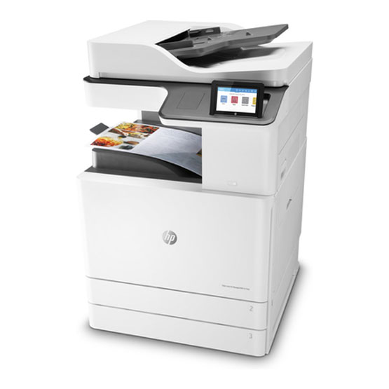 HP LaserJet Managed MFP E77422dv - Vista angular