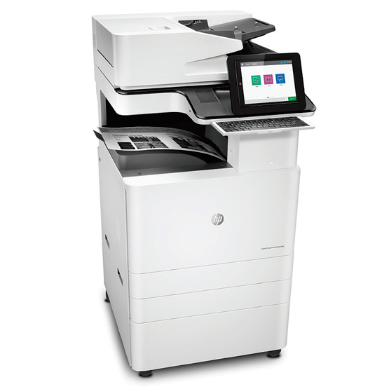 HP LaserJet Managed MFP E825 Series - Vista en ángulo