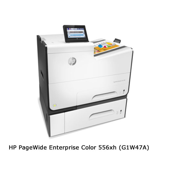 HP PageWide Enterprise 556xh - Vista angular